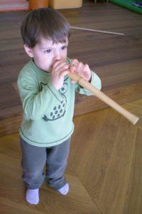 Flötenspielen
